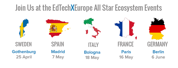 EdTechXEurope Ecosystem Events Countries
