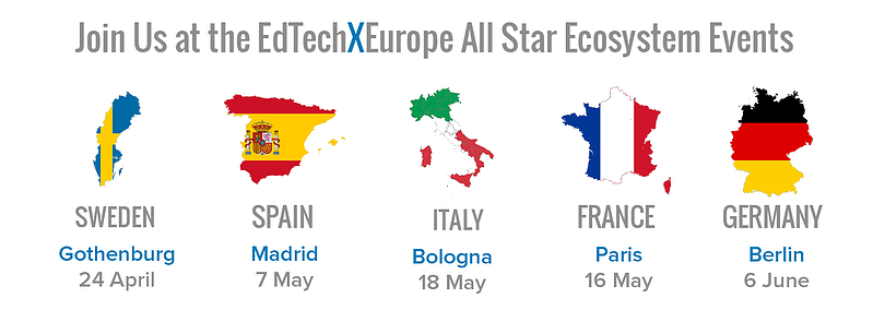EdTechXEurope All Star Ecosystem Events Locations