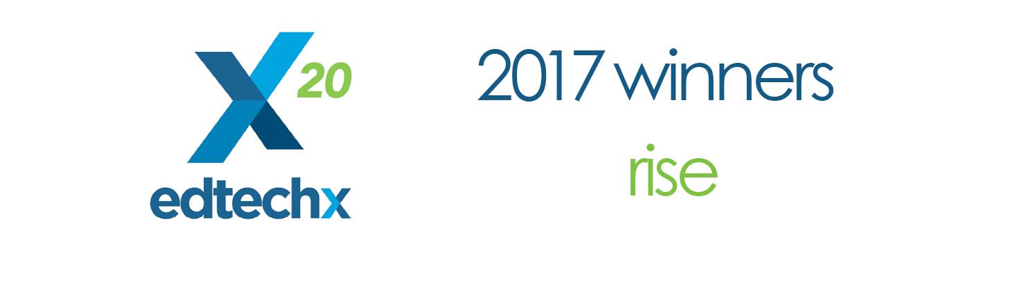 EdTech 2017 Rise Winner - LP Header