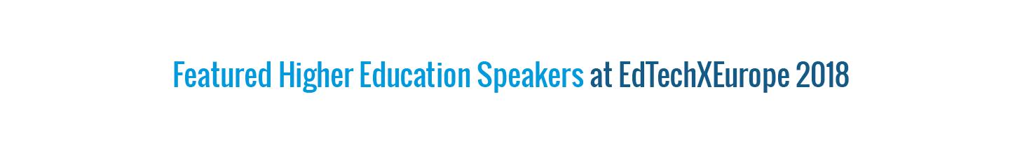 Selected HE Speakers - ETE 18